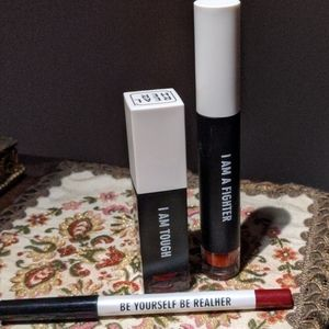 RealHer Set of Red Lip Plumper, Lipstick, & Liner